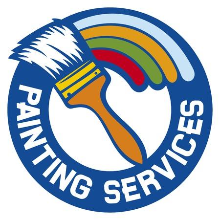 Servizi di pittura etichetta servizi di pittura simbolo Archivio Fotografico - 40035789