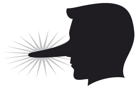 lying man with long nose Illustration