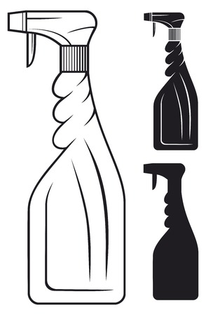 cleaning spray bottle Vector