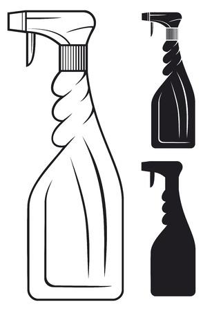 Reinigung Sprühflasche Vektorgrafik