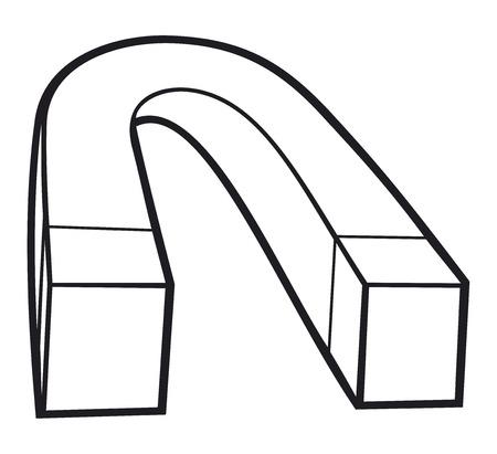 magnetization: horseshoe magnet red magnet iron magnet