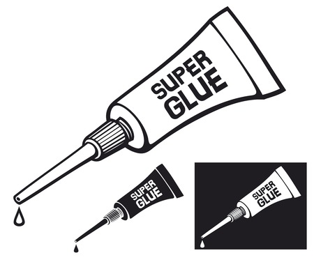 resistol: tubo metálico de tubo de pegamento súper vector de tubo de pegamento con pegamento