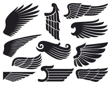 engel tattoo: Flügel Sammlung Illustration