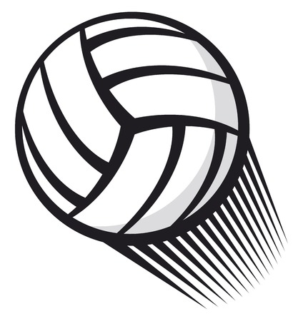 simple background: volleyball ball