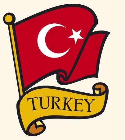 turkey flag: Turkey flag Illustration