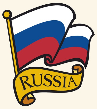 Rusland vlag Russische Federatie vlag
