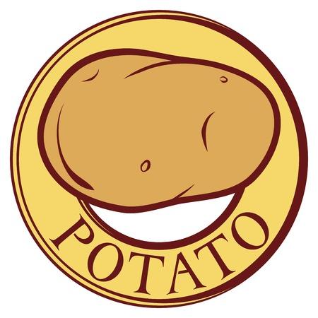raw potato: potato label design