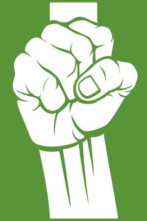 l hand: nigeria fist flag of nigeria