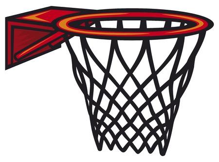 Basketbal hoepel. Vector illustratie. Stock Illustratie