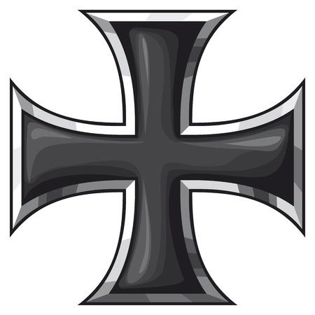 鉄の十字  イラスト・ベクター素材