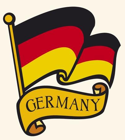 bandera alemania: Bandera de la Rep�blica Federal de Alemania  Vectores