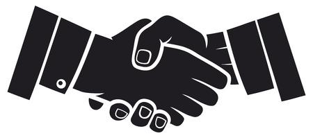 hand shake: apret?n de manos Vectores