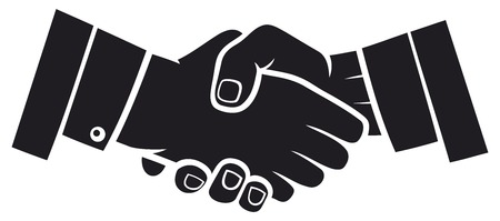 working with hands: handshake Illustration