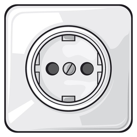 electric outlet: power plug power outlet electric outlet Illustration