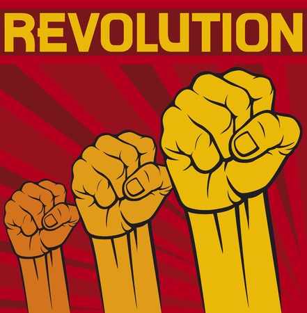 fist  symbol of revolution poster