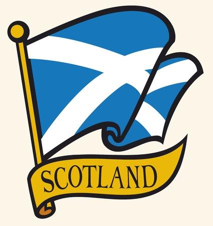 flag: scotland flag Illustration