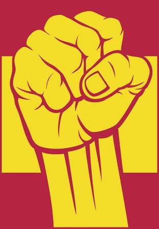 spain fist flag of spain Vector