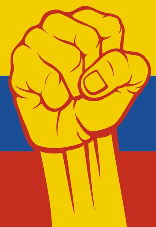 venezuela fist flag of venezuela Vector