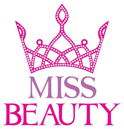miss beauty symbol miss beauty sign with diamond tiara