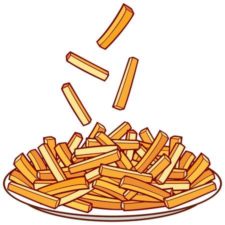 plato de comida: las patatas fritas en un taz�n plato de patatas fritas
