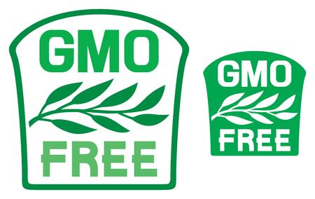 gmo: GMO free label GMO free symbol
