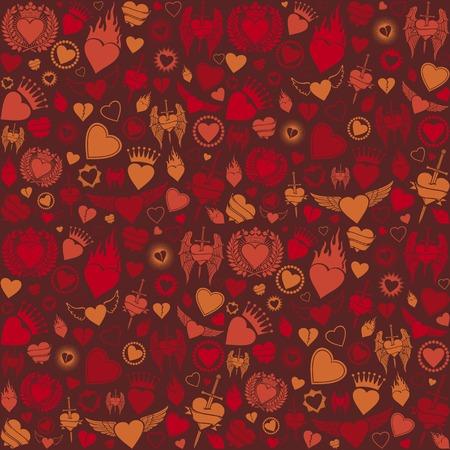 heart burn: heart seamless pattern valentines day background, hearts background