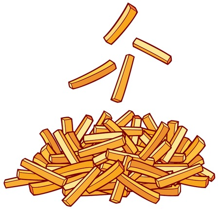 papas fritas: un montón de patatas fritas