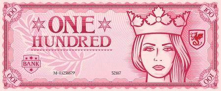 Cent billet de banque résumé Banque d'images - 42040265