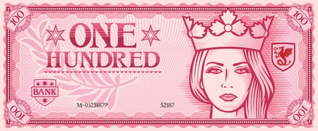 hundred: one hundred abstract banknote