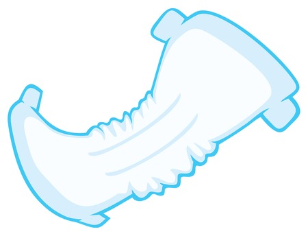 incontinence: baby absorbent diaper vector illustration
