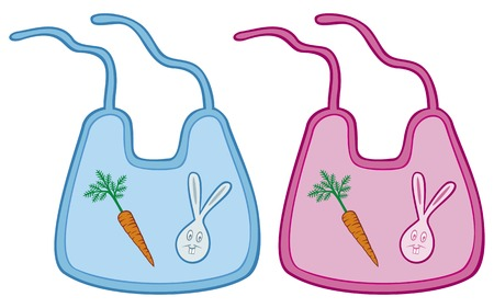 fleecy: baby bib collection children bib set Illustration