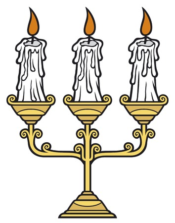 candlestick: candles candle holder
