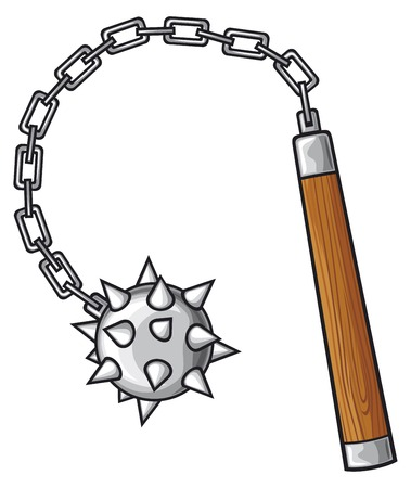 mace: medieval mace mace - ancient weapons Illustration