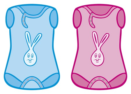coverall: baby clothes - baby bodysuit Illustration
