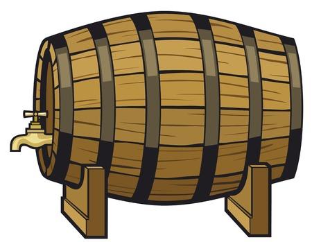 vintage beer barrel vector illustration Vettoriali