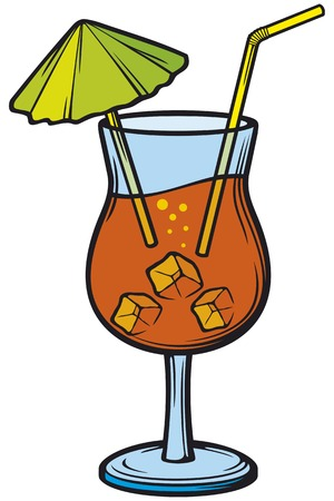 ice cubes: alcohol cocktails icon vector illustration