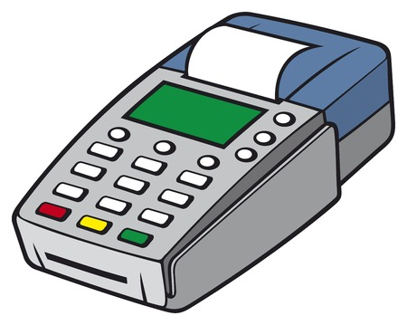 pos: credit card terminal POS terminal, payment machine, credit card machine