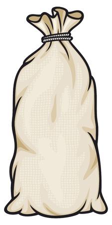 rice and beans: burlap sack bag canvas bag, full sack
