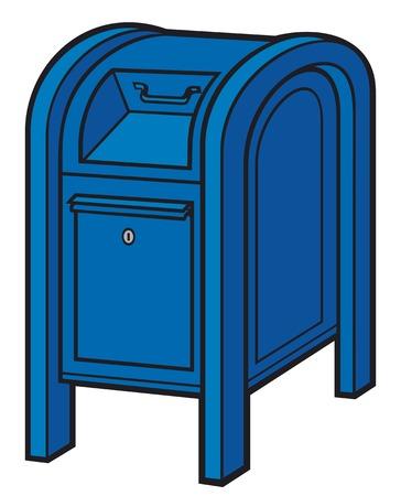 post mail: blue mail box post box, mailbox, blue postbox