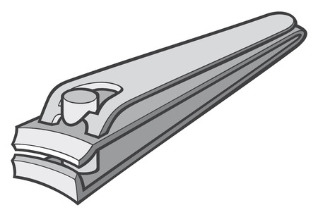 clipper: stainless steel nail clipper vector illustration