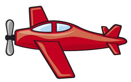 airplane wing: airplane vector illustration Illustration