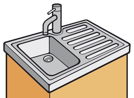 basin: kitchen sink Illustration