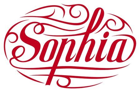 sophia: female name Sophia Illustration