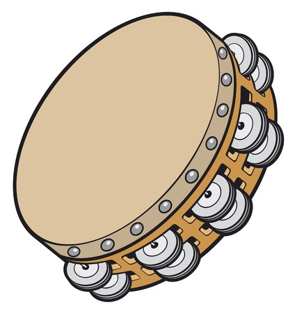 loud music: tambourine music instrument