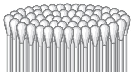 swab: ears stick ear pick, cotton stick, white cotton swabs Illustration