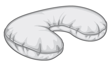 inflatable: neck pillow an inflatable travel cervical pillow, inflatable neck pillow, traveling gray sleeping pillow Illustration