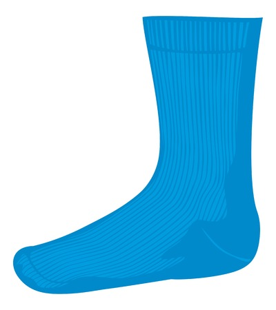 hosiery: blue sock vector illustration