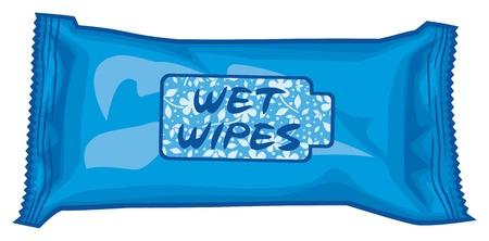 mojada: toallitas húmedas caja ilustración vectorial caja de pañuelos, caja de toallitas, caja de pañuelos