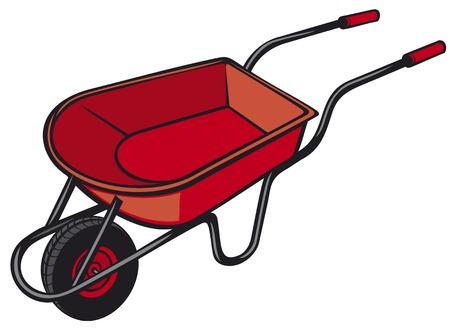 country farms: garden metal wheelbarrow vector illustration