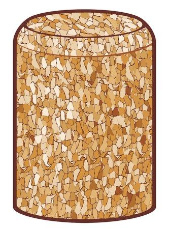 truncated: wine cork vector illustration